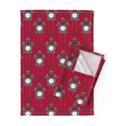 cuckoo clock tea towels