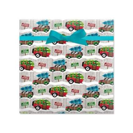 Current Camping Christmas Rolled Gift Wrap