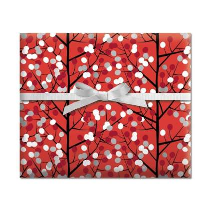 Current Branches & Dots Jumbo Rolled Gift Wrap