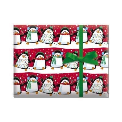 Current Festive Penguins Jumbo Rolled Gift Wrap