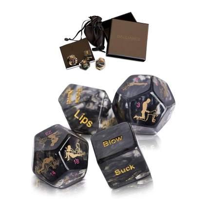 Dark colored dice
