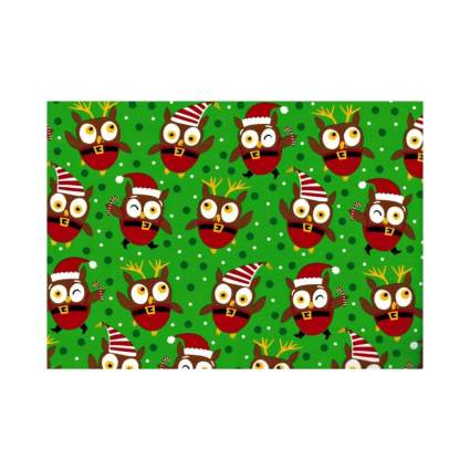Design Design Christmas Owl Jumbo Roll Gift Wrap Paper