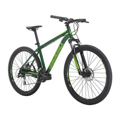 green front suspension mountain bike