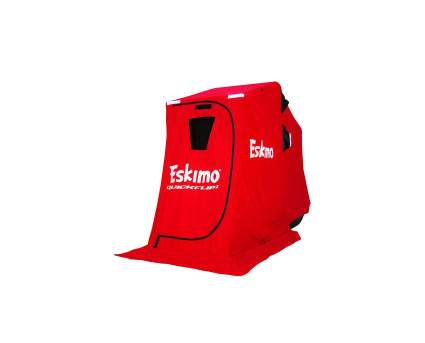 Eskimo QuickFlip 1 Portable Flip Style Ice Shelter with Sled & Tripod Chair
