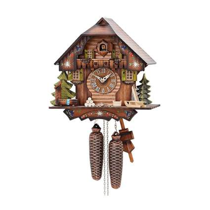 chalet style german cuckoo clock