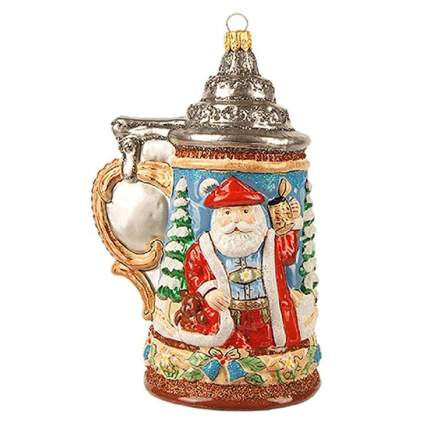 german santa beer stein ornament