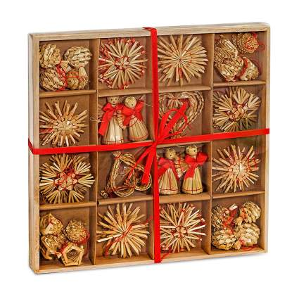german straw christmas ornaments