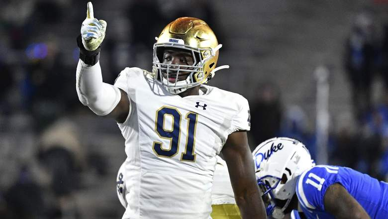 Notre Dame Navy betting line odds prediction