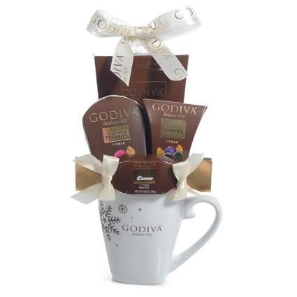 Godiva mug chocolate gift set