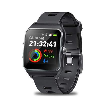 black GPS smartwatch
