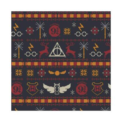 Graphics & More Harry Potter Sweater Pattern Wrapping Paper