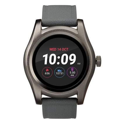 gray digital smartwatch