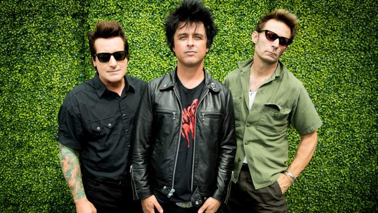 Green Day at the SiriusXM studios.