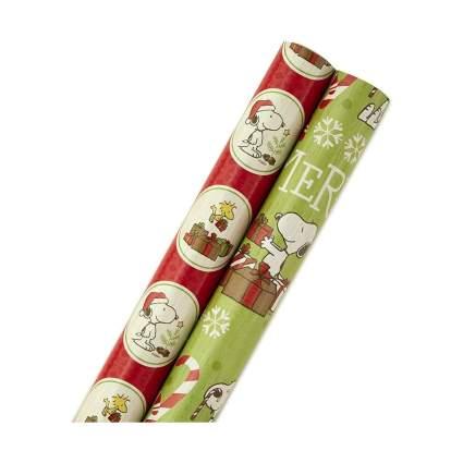 Hallmark Peanuts Holiday Wrapping Paper Bundle