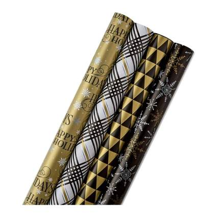 Hallmark Reversible Holiday Wrapping Paper Bundle