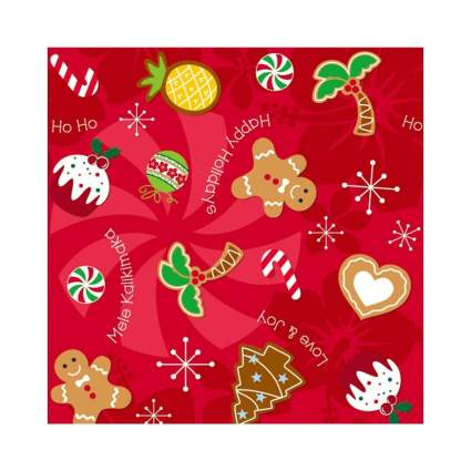 Holiday Delights Hawaiian Christmas Cookies Gift Wrap Paper