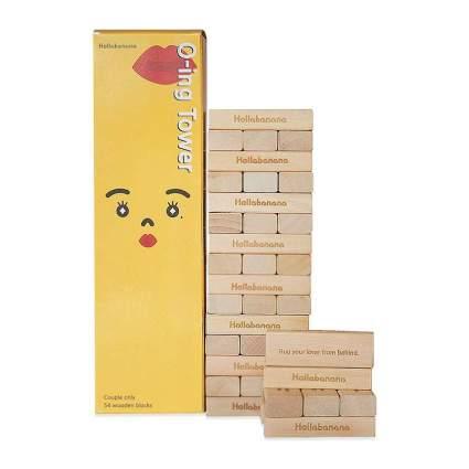 Block tower game