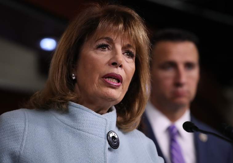 Jackie Speier comments during a press conference dedicated to preventing sexual assault.