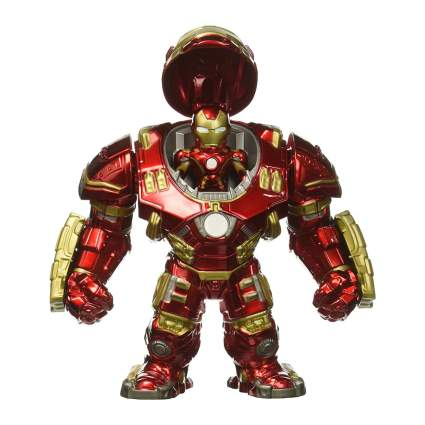 "Jada Marvel 6"" Hulkbuster & 2"" Iron Man Die-Cast Figures"