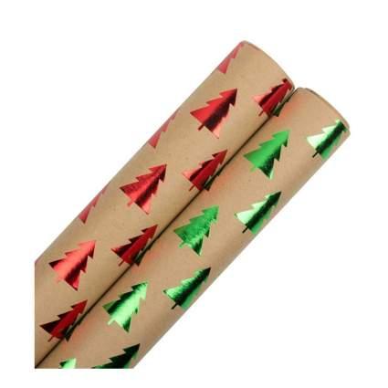 jam paper Red & Green Trees Kraft Paper
