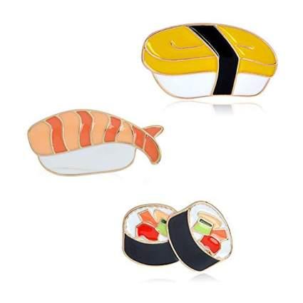 Enamel sushi pin set