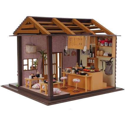 Miniature sushi shop dollhouse