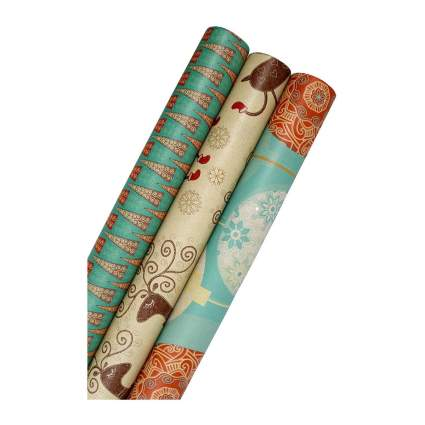 kkraft unique christmas wrapping paper