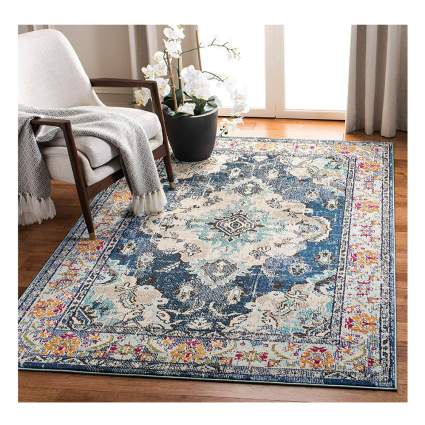 distressed bohemian area rug