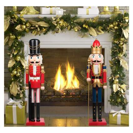 large wooden nutcracker figurines