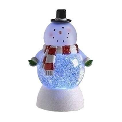 LED lighted snowman glitter globe