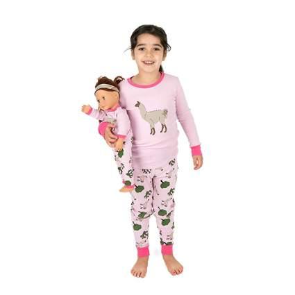 Leveret Matching Doll & Girls Pajamas