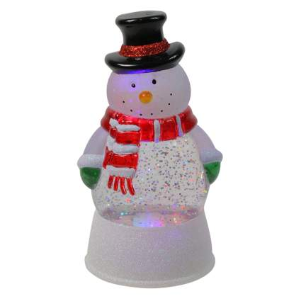 light up snowman snow globe