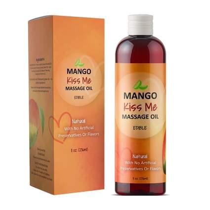 Mango massage oil bottle