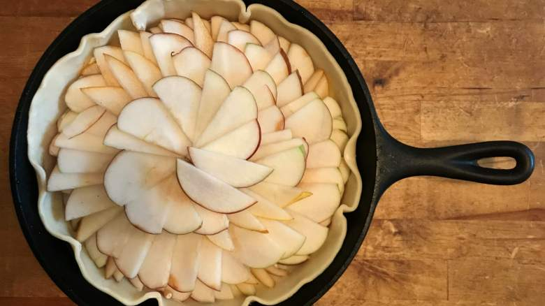 Apples, like the one used in Mutant Cafe's recipe, make for a tangy and sweet dessert.
