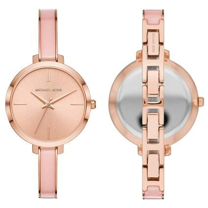 rose gold quartz watch