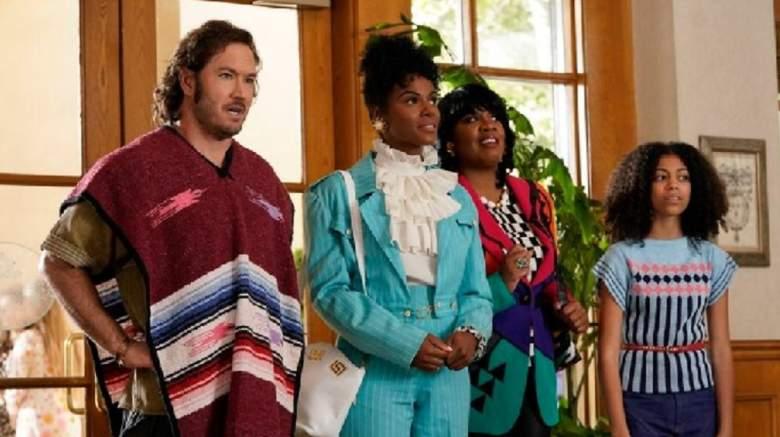 Mark-Paul Gosselaar and Tika Sumpter star in the ABC series Mixed-ish.