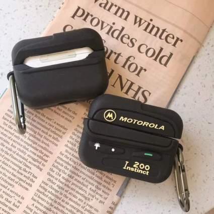 motorola beeper airpods case