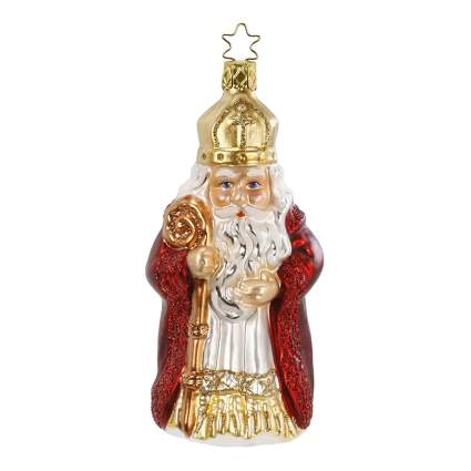 nikolaus german blown glass ornament