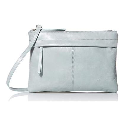 pale blue bucket bag