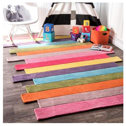 pantone color stripes rug