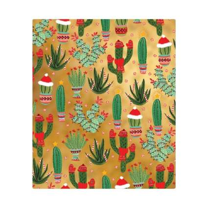 Party Explosions Christmas Cactus Holiday Gift Wrapping Paper Roll