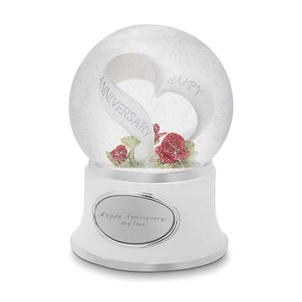 Personalized anniversary snow globe
