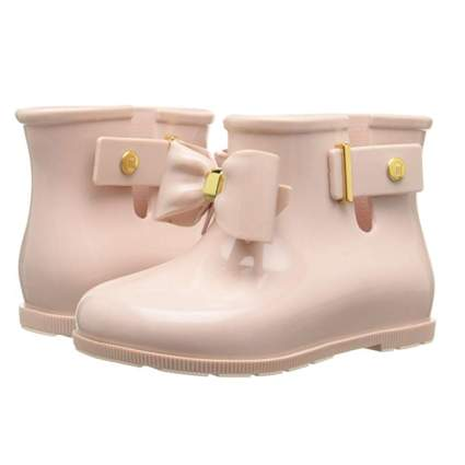 pink bow front toddler rainboots