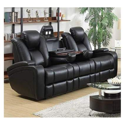 black power recliner couch
