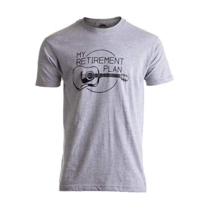 Ann Arbor T-Shirt Company My Retirement Plan Guitar Shirt