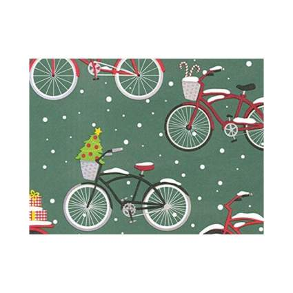 Revel & Co. Old Fashioned Bicycles Christmas Wrapping Paper
