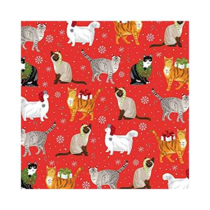 Revel & Co. Christmas Cats Wrapping Paper