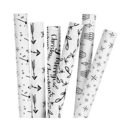 Ruspepa White Kraft Gift Wrapping Paper