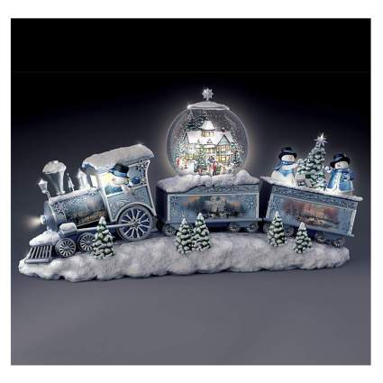 santa train musical snow globe