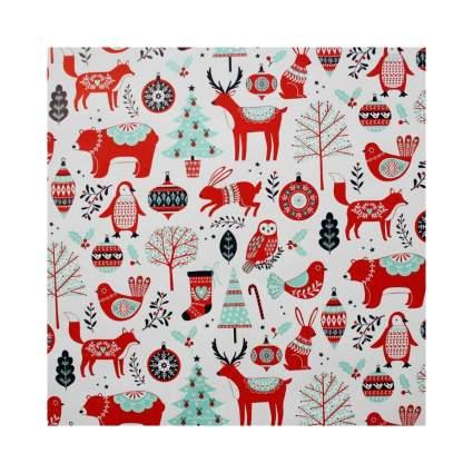 ScandinavianShoppe Julpapper Nordic Folk Christmas Wrapping Paper
